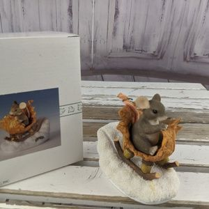 Charming tails one open sleigh acorn mice floyd mo